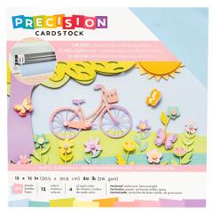 Набор кардстока с текстурой American Crafts PRECISION CARDSTOCK Pastel 30х30см