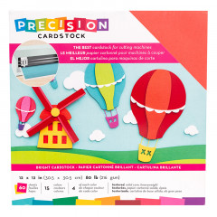 Набор кардстока с текстурой American Crafts PRECISION CARDSTOCK Bright 30х30см