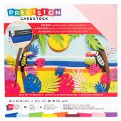 Набор кардстока с текстурой American Crafts PRECISION CARDSTOCK Primary 30х30см