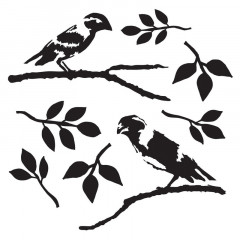 Трафарет The Crafter's Workshop LOVE BIRDS 15х15см