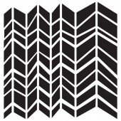 Трафарет The Crafter's Workshop CHUNKY CHEVRON 15х15см