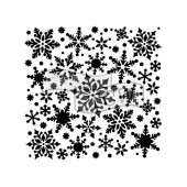 Трафарет The Crafter's Workshop SNOWFLAKES 15х15см