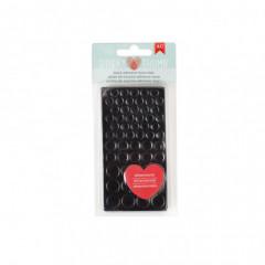 Клеевые подушечки объемные American Crafts BLACK ADHESIVE FOAM DOTS круглые черные