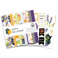 Набор бумаги для скрапбукинга P13 HAPPY HALLOWEEN 15х15см