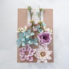 Набор цветов Pastel Flowers ЦВЕТОЧНЫЙ БЛЮЗ фиолет