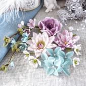 Цветы и листики из бумаги для украшения работ в скрапбукинге