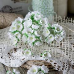 Набор цветов Pastel Flowers МАЛЕНЬКИЕ ЦВЕТОЧКИ 1см белые 10шт