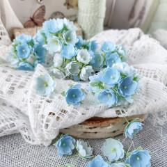 Набор цветов Pastel Flowers МАЛЕНЬКИЕ ЦВЕТОЧКИ 1см голубые 10шт