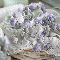 Набор цветов Pastel Flowers МАЛЕНЬКИЕ ЦВЕТОЧКИ 1см сиреневые 10шт