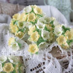 Набор цветов Pastel Flowers МАЛЕНЬКИЕ ЦВЕТОЧКИ 1см желтые 10шт