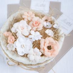 Набор цветов Pastel Flowers ПЕРСИКОВЫЙ МИКС