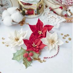 Набор цветов Pastel Flowers СКАЗОЧНАЯ ЗИМА пуансеттии