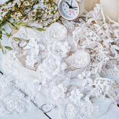Набор цветов Pastel Flowers DIAMOND белый