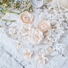 Набор цветов Pastel Flowers DIAMOND персиковый