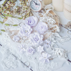 Набор цветов Pastel Flowers DIAMOND сиреневый