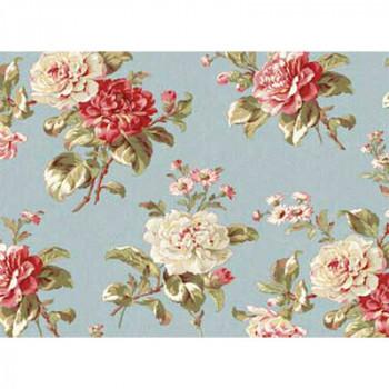 Ткань лоскутная Peppy MRS MINIVER цветы на голубом 50х55см