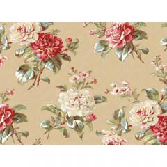 Ткань лоскутная Peppy MRS MINIVER цветы на бежевом 50х55см