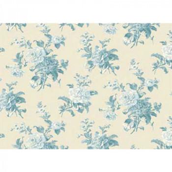 Ткань лоскутная Peppy MRS MINIVER голубые цветы 50х55см