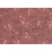 Ткань лоскутная Peppy ANTIQUE ROSE бордовая 50х55см