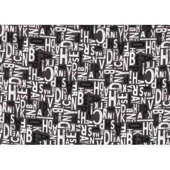 Ткань лоскутная Peppy MOJI PALETTE черная 50х55см