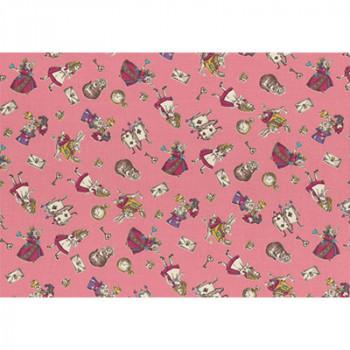 Ткань лоскутная Peppy GIRL'S STORY розовая 50х55см