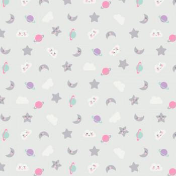 Ткань лоскутная Peppy 4500 СПОКОЙНОЙ НОЧИ розовая 50х55см
