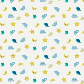 Ткань лоскутная Peppy 4500 СПОКОЙНОЙ НОЧИ голубая 50х55см