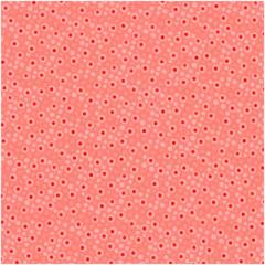 Ткань лоскутная Peppy 4519 КРУЖОЧКИ коралловая 50х55см