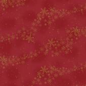 Ткань лоскутная Peppy 4594 ЗОЛОТЫЕ СНЕЖИНКИ НА КРАСНОМ 50х55см