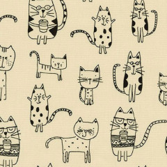 Ткань лоскутная Peppy WHISKERS & TAILS кошки 50х55см