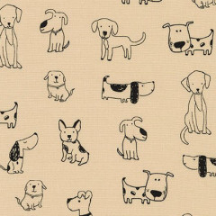 Ткань лоскутная Peppy WHISKERS & TAILS собаки 50х55см