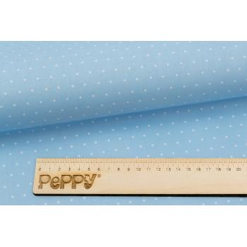 Ткань лоскутная Peppy БАБУШКИН СУНДУЧОК горох голубой 50х55см