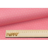 Ткань лоскутная Peppy БАБУШКИН СУНДУЧОК горох розовый 50х55см