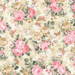 Ткань лоскутная Peppy LADY ELIZABETH цветы на бежевом 50х55см