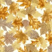Ткань лоскутная Peppy SHADES OF THE SEASON коричневые листья 50х55см