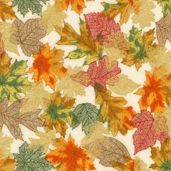 Ткань лоскутная Peppy SHADES OF THE SEASON золотистые листья 50х55см