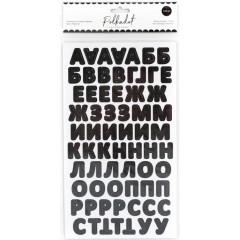 Картонные стикеры алфавит Polkadot ЧЕРНЫЙ