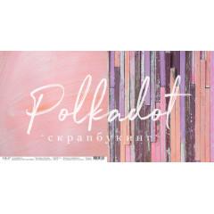 Лист бумаги для скрапбукинга Polkadot МАЛИНОВЫЙ ЗАКАТ коллекция Текстура 30х30см