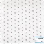 Прозрачный ацетатный лист с серебряным фольгированием Polkadot АЭРОПОРТ 30х30см