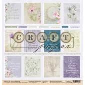 Лист бумаги для скрапбукинга CraftPaper КАРТОЧКИ коллекция Летние дни 30х30см
