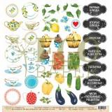 Лист бумаги для скрапбукинга EcoPaper ЗА СЕМЕЙНЫМ СТОЛОМ коллекция Завтрак на веранде 30х30см
