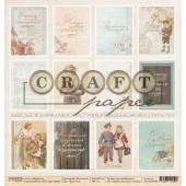 Лист бумаги для скрапбукинга CraftPaper КАРТОЧКИ коллекция Моя школа 30х30см