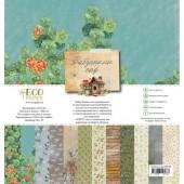 Набор бумаги для скрапбукинга EcoPaper БАБУШКИН САД 30х30см