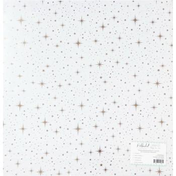 Прозрачный ацетатный лист с золотым фольгированием Polkadot МЕРЦАНИЕ 30х30см