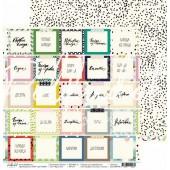 Лист бумаги для скрапбукинга Polkadot ЯРЛЫЧКИ коллекция Кухня 30х30см