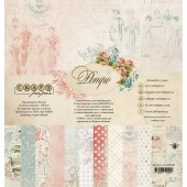 Набор бумаги для скрапбукинга CraftPaper РЕТРО 30х30см