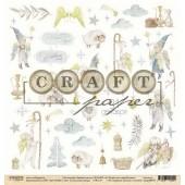 Лист бумаги для скрапбукинга CraftPaper СЧАСТЛИВАЯ ЗВЕЗДА коллекция Зимний ангел 30х30см