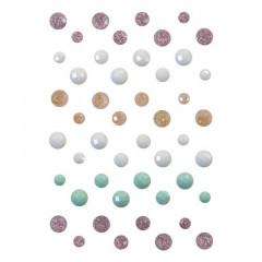 Набор клеевых камушков Prima Marketing SUGAR COOKIE CHRISTMAS Say It In Crystals
