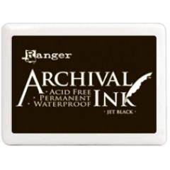 Чернильная подушечка Ranger ARCHIVAL JET BLACK черный