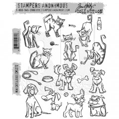Набор штампов Tim Holtz MINI CRAZY CATS AND DOGS